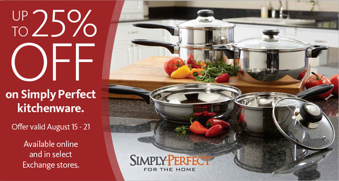 25% Off Simply Perfect Kitchenware