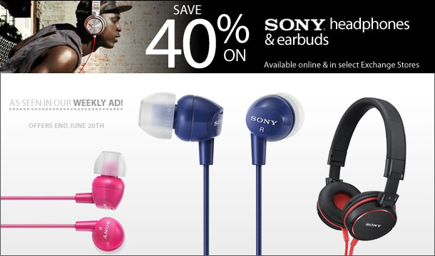 40% Off Sony Earbuds and Headphones