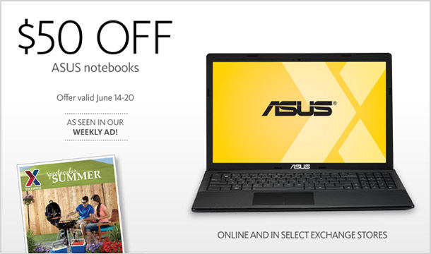 $50 Off ASUS Notebooks