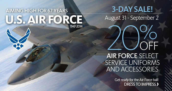20% Off Air Force Select Service Uniforms