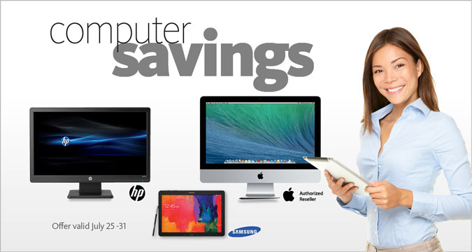 Save on Apple, HP, Samsung and more!