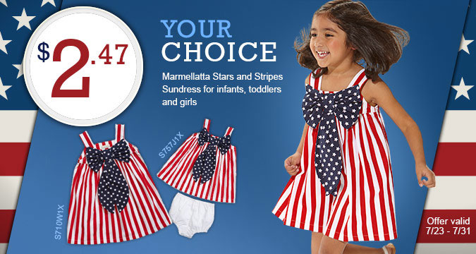 Marmellatta Stars and Stripes Sundress. Just $2.47!