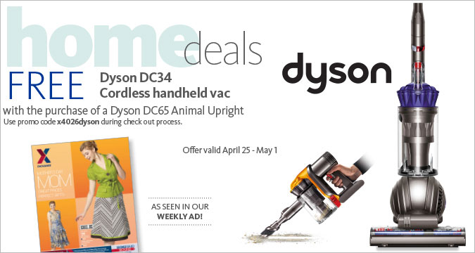 Free handheld Vac w/purchase of Dyson DC65