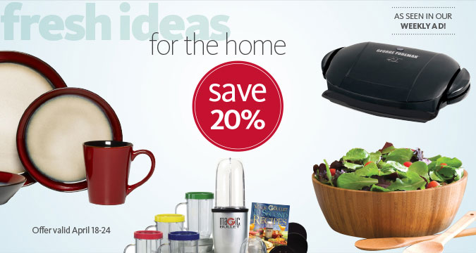 Fresh Ideas for the Home - Save 20%