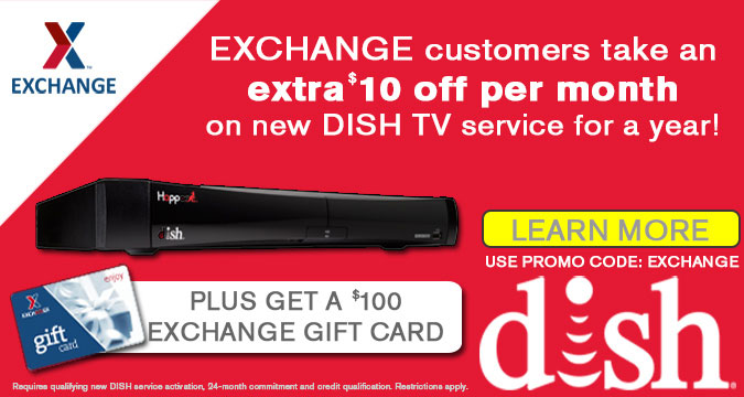 Extra $10 off per month on Dish